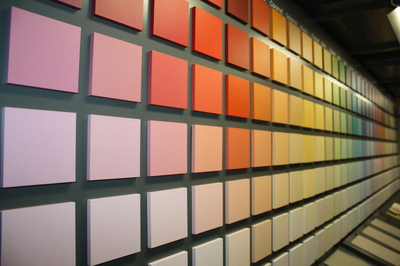 kleurenwand